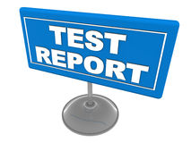 Test report Royalty Free Stock Images