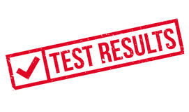 Test Results rubber stamp Stock Image