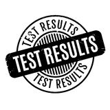 Test Results rubber stamp Stock Photography