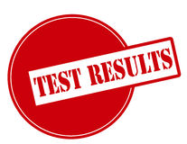 Test results. Rubber stamp with text test results inside, vector illustration Stock Image