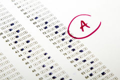Test results in school Royalty Free Stock Photo