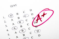 Test results in school Stock Images