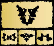 The test rorschach set image Stock Image
