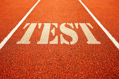 Test on running track Royalty Free Stock Images