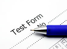 Test score sheet. With answers Stock Photos