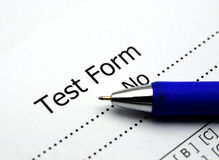 Test score sheet Royalty Free Stock Photography