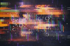Test Screen abstract Glitch Texture. Test Screen abstract Glitch Texture stock illustration