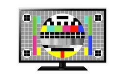 Test screen on modern LCD television Stock Photography