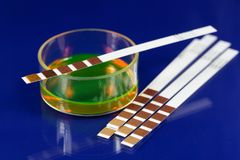 Test Strip. For chemical analyses Royalty Free Stock Photography