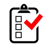 Test survey icon. On white background Stock Image