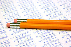 Test taking materials Stock Photo