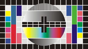 Test television screen, 16/9. Test Pattern for Wide Screen TV, vector illustration Stock Image
