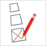 Test ticking vector art illustration Stock Images