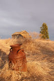 The Test of Time. A common scenic view in North Dakota Stock Photography