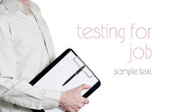The test to work. Transfer of Tablet arm Stock Photography