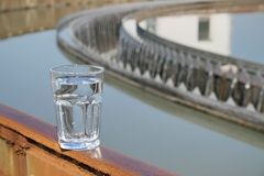 Test treated water at treatment plant Royalty Free Stock Images