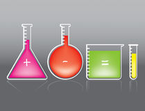 Test Tube. Set Vector Drawing Royalty Free Illustration