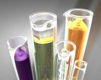 Test tube. 3d image of laboratory with test tube stock illustration