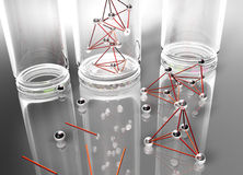 Test tube. Details of test tubes and geometric parts royalty free illustration