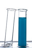 Test tube. With a blue fluid Royalty Free Stock Photo