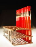 Test tube. With red sample Stock Photo