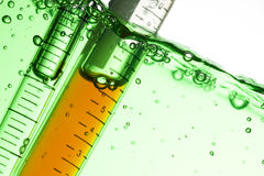 Test Tube. Chemical Test Tube . Chemical experiment with Laboratory glass Royalty Free Stock Image