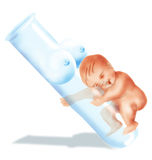 Test-tube baby. Baby illustration Royalty Free Stock Photos