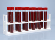 Test-tube with blood . Computer generated Stock Photos
