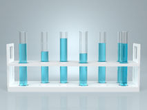 Test-tube with blue liquid . Computer generated Royalty Free Stock Photography