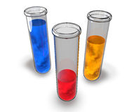 Test tube chemical analysis laboratory Royalty Free Stock Images