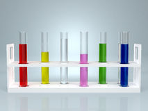 Test-tube with color liquid . Computer generated Royalty Free Stock Photo