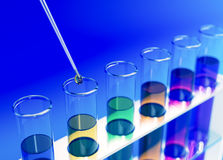 Test tube, concept of scientific research Royalty Free Stock Image