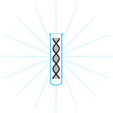 Test tube with DNA inside - vector Stock Image
