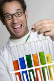 Test Tube Experiment Stock Photo