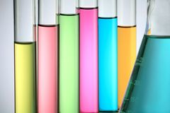 Test Tube With Flask Stock Photos