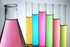 Test Tube With Flask Stock Photography
