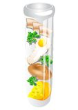 Test tube food Stock Images