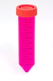 Test Tube Isolated. Test Tube with Pink / Red media isolated on white Royalty Free Stock Images