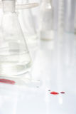 Test tube in laboratory  Stock Image