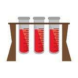 Test tube rack medicine laboratory vector illustration