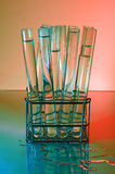 Test Tube Rack. Red Royalty Free Stock Photos