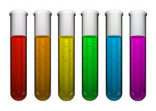 Test tube rainbow Stock Photography