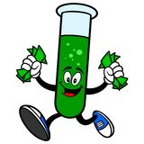 Test Tube Running with Money Royalty Free Stock Photos