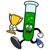 Test Tube Running with a Trophy Stock Image