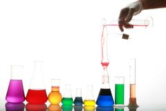 Test tube Scene Stock Photography