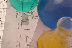 Test tube Scene stock image