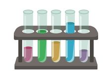 Test Tubes and Stand stock illustration