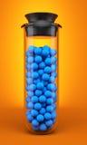 Test tube with spheres Stock Photos