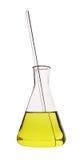 Test tube with yellow liquid Stock Photo