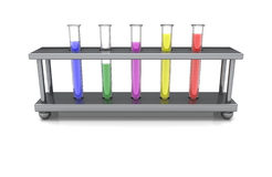 Test Tubes. With colored liquids Stock Photography